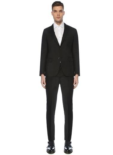 Pal Zileri Pal Zileri Yün Takım Elbise Siyah